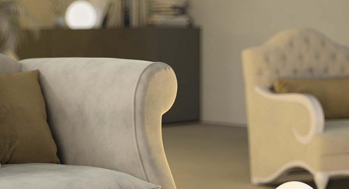 dettaglio divano moderno